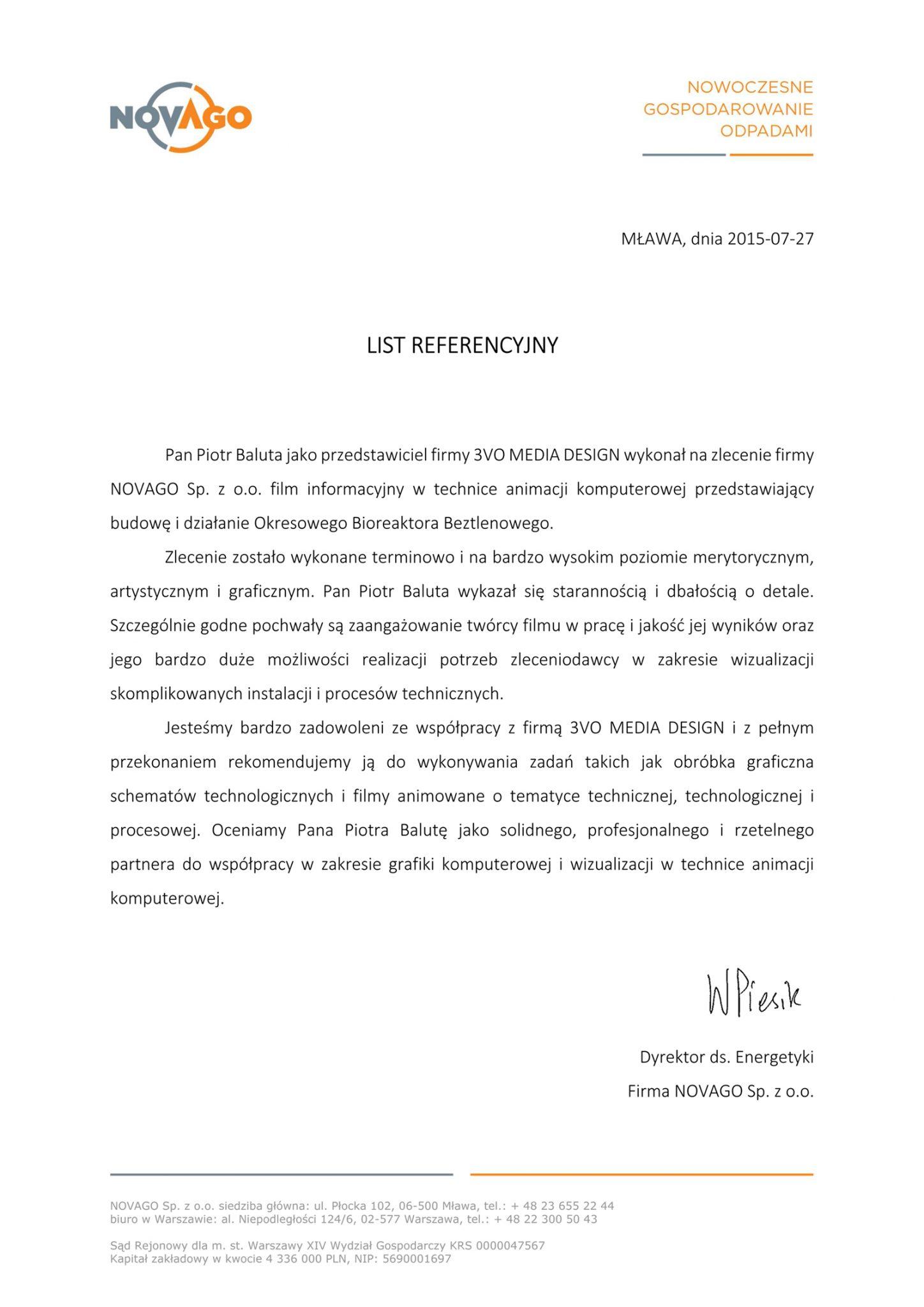 Referencje Novago