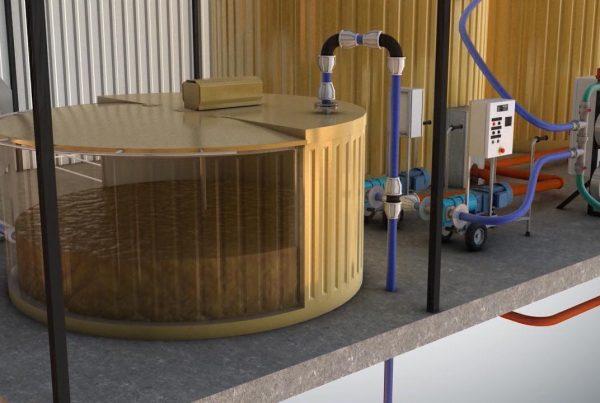 Biogazownia wizualizacja 3D