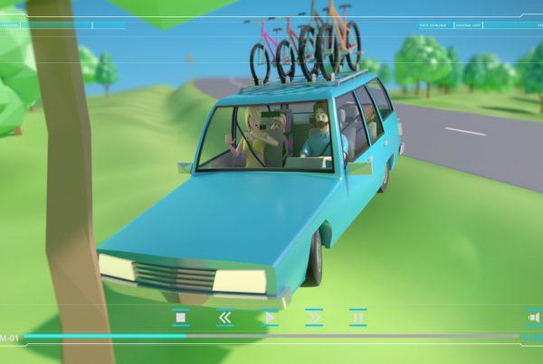 Animacja 3D Bezpieczeństwo na drodze