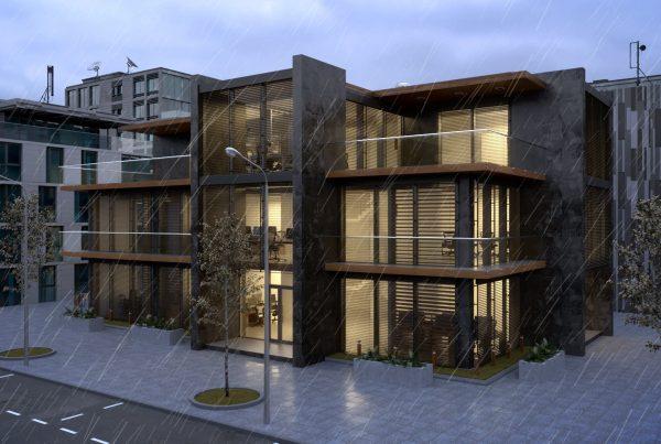 Å»aluzje Animacja 3D Budynek Exterior